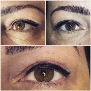 eyeliner smudgy permanente make up